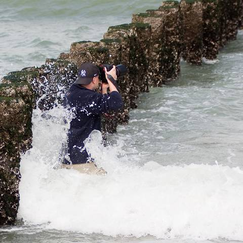 Einsatz in den Wellen