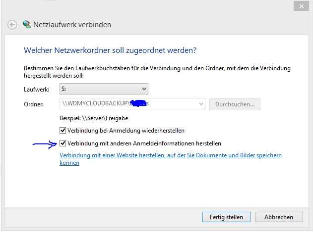 Freigabe in Windows einbinden